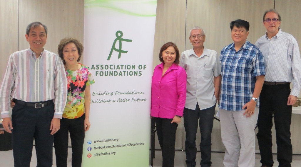 Photo shows the AF-RMAF research team composed of Oman Jiao, Carn Abella, and Rory Tolentino, and the CSO resource persons Luis Morales (Philippine Council for NGO Certification), Dodo Macasaet (CODE-NGO), and Steven Muncy (Community and Family Services International) during a meeting held on January 18.
